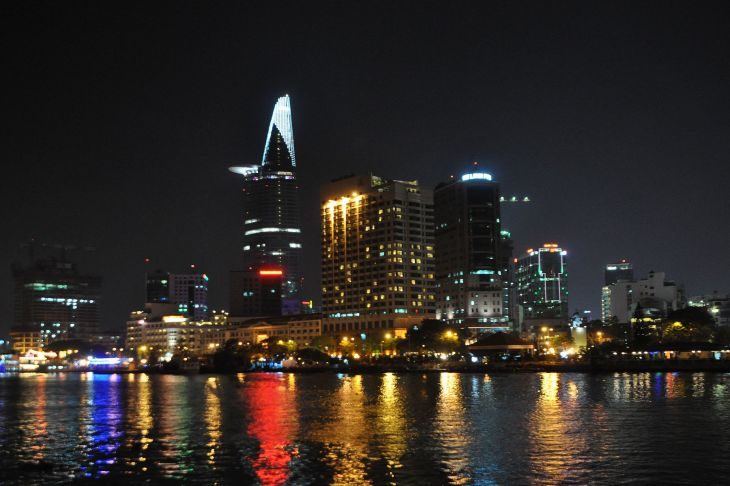 A glimpse of Ho Chi Minh city at night.