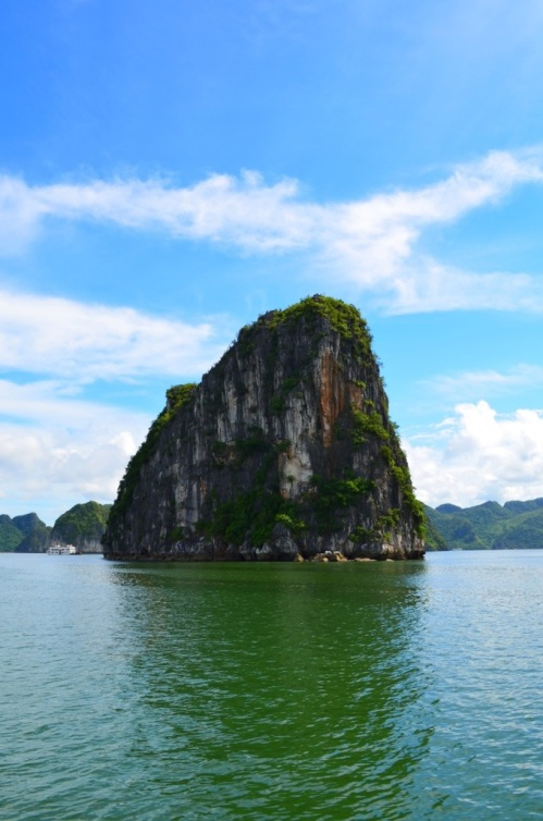 One of many thousands of small island at Halong.