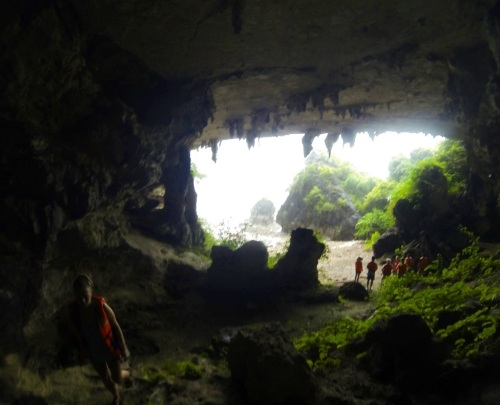 Lucy and I went into the cave while the others waited for the storm to slow.