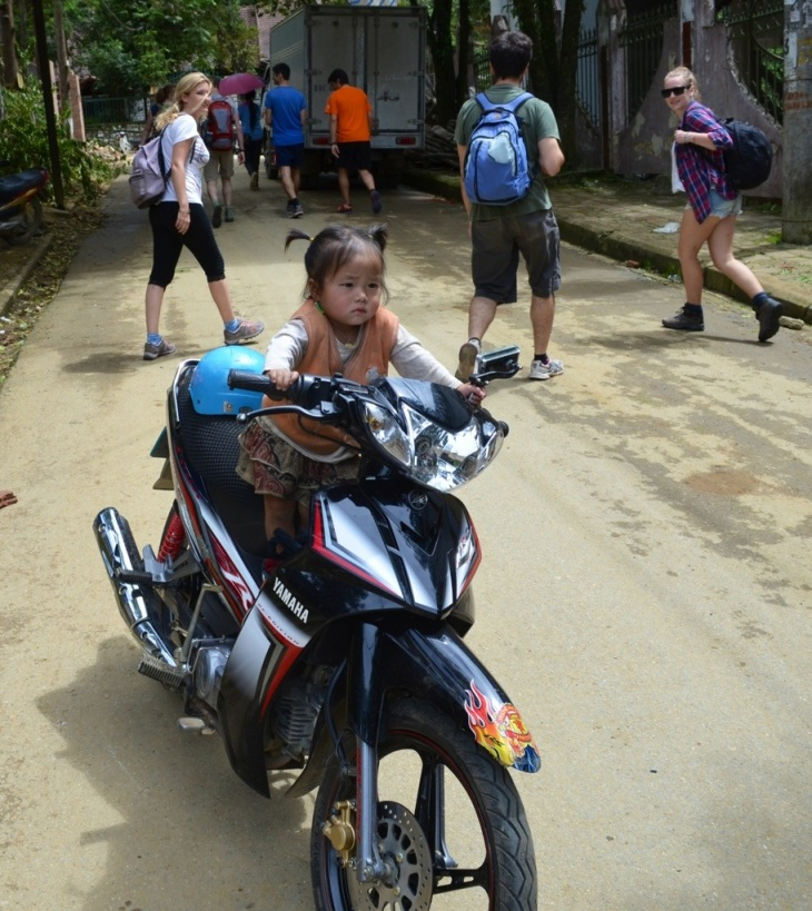 Sapa, the town where toddlers ride motorbikes as soon as they can walk...