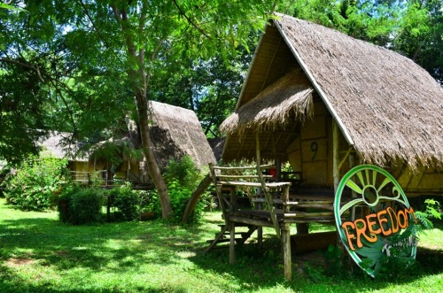 I lived in bamboo hut #9.
