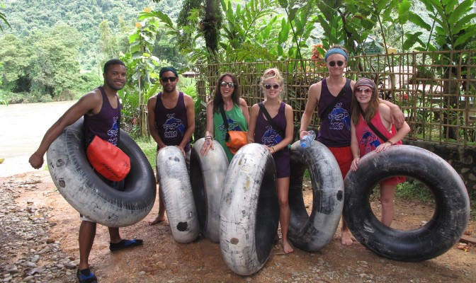 Tubing in the Vang Vieng