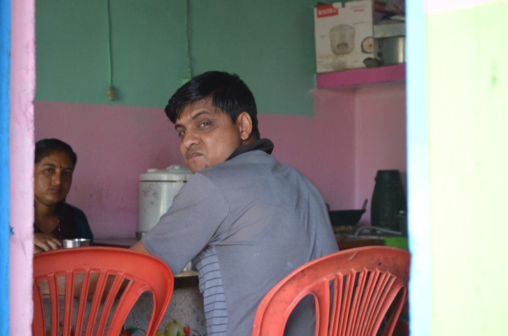 Aatma, the father of the household and also the principal of the school nearby.