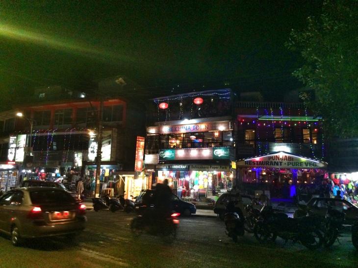 Pokhara's night scene.