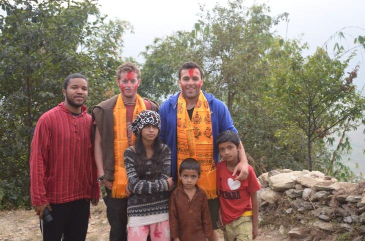 Me, Tim, and Emre with Amisha, Aakash, and Amish.