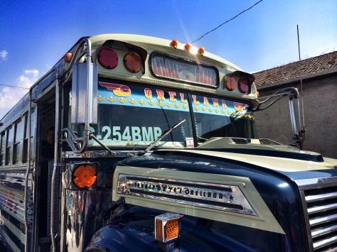 A chicken bus.