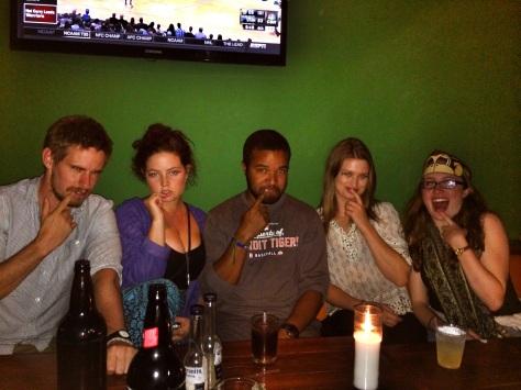 Luke, Hanni, Me, Lucinda, Deirdre