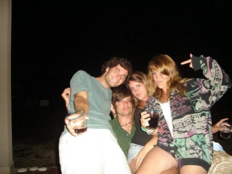 Stacey, Taylor, and a couple of the surfers. Photo courtesy of Stacey Ludlow.