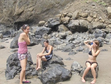 Stacey, Sarah, and Taylor are the girls I dragged out to The Rock. Waiting for us to figure out how to escape!