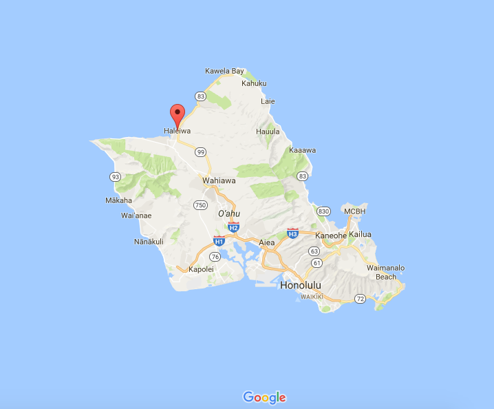 Haleiwa, Hawaii, the location of Event #4.
