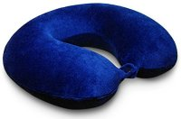 Travel-Pillow-KohbiR-Travel-Bliss-Memory-Foam-Neck-Pillow-Premium-Neck-Support-Pillow-for-Comfort-Rest-Free-Bonus-Travel-Tips-Ebook-Luxurious-Plush-Astral-Blue-Velour-Washable-Cover-Lightweight-Neck-R-0