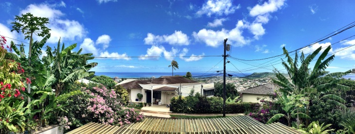 Image courtesy of Chris O'Sullivan. Our view from our studio in Honolulu.