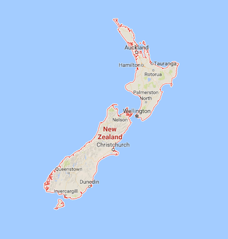 New Zealand is split into two islands: the North and the South