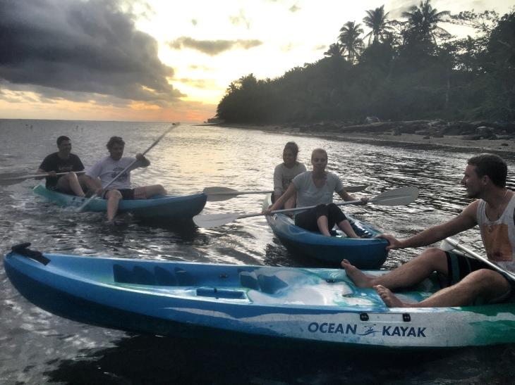 Kayaking at the Fiji Beachouse