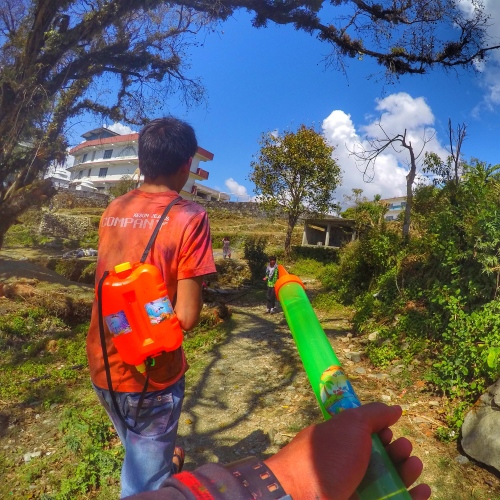 holi festival pokhara nepal india colors warholi festival pokhara nepal india colors war