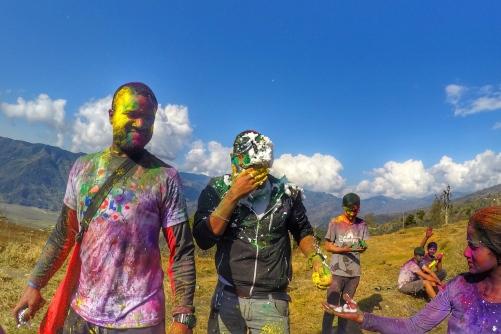 holi festival pokhara nepal india colors war